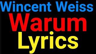 Wincent Weiss | Warum | Lyrics