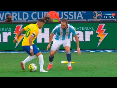 Neymar vs Argentina (Home) 16-17 HD 720p – Brazilian Commentary