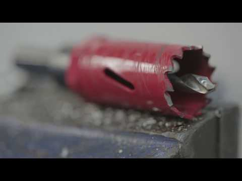 Comparison Holesaw vs Punching from Greenlee