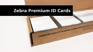 Blank Zebra Premium PVC ID Cards Video