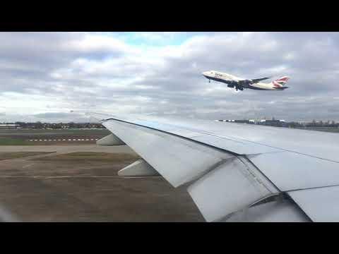 British Airways Boeing 777-300ER (G-STBE) takeoff from LHR