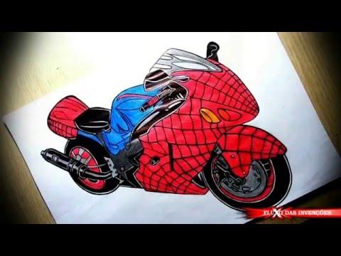 Desenhos de Motos de Super Heróis , Animes e Games