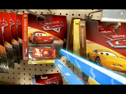 Disney Cars Toy Hunt With Halo Energy Sword - NEW Disney Store RC Build To Race Lightning McQueen