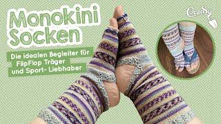 Monokini Socken Stricken - Die Socken Für FlipFlops Und Sportbegeisterte #sockenstricken #flipflops