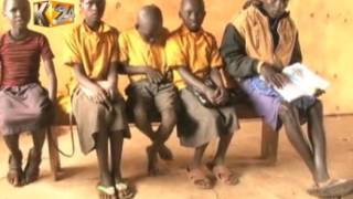 West Pokot residents receive shoes from Red Cross