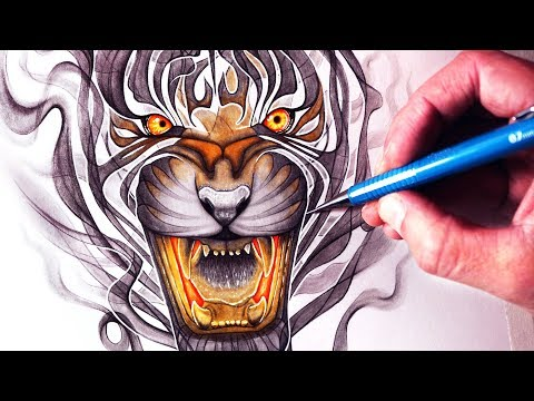 Let's Draw a SMOKE TIGER - FANTASY ART FRIDAY