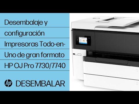 Desembalaje y configuración de la impresora HP OfficeJet Pro 7740