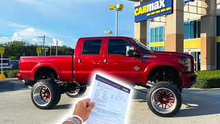 Took My $100,000 DOLLAR LIFTED F350 To CARMAX And This Is What They OFFERED ME........