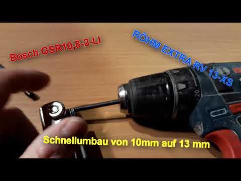 Bohrfutter tausch beim GSR-10.8-2-LI