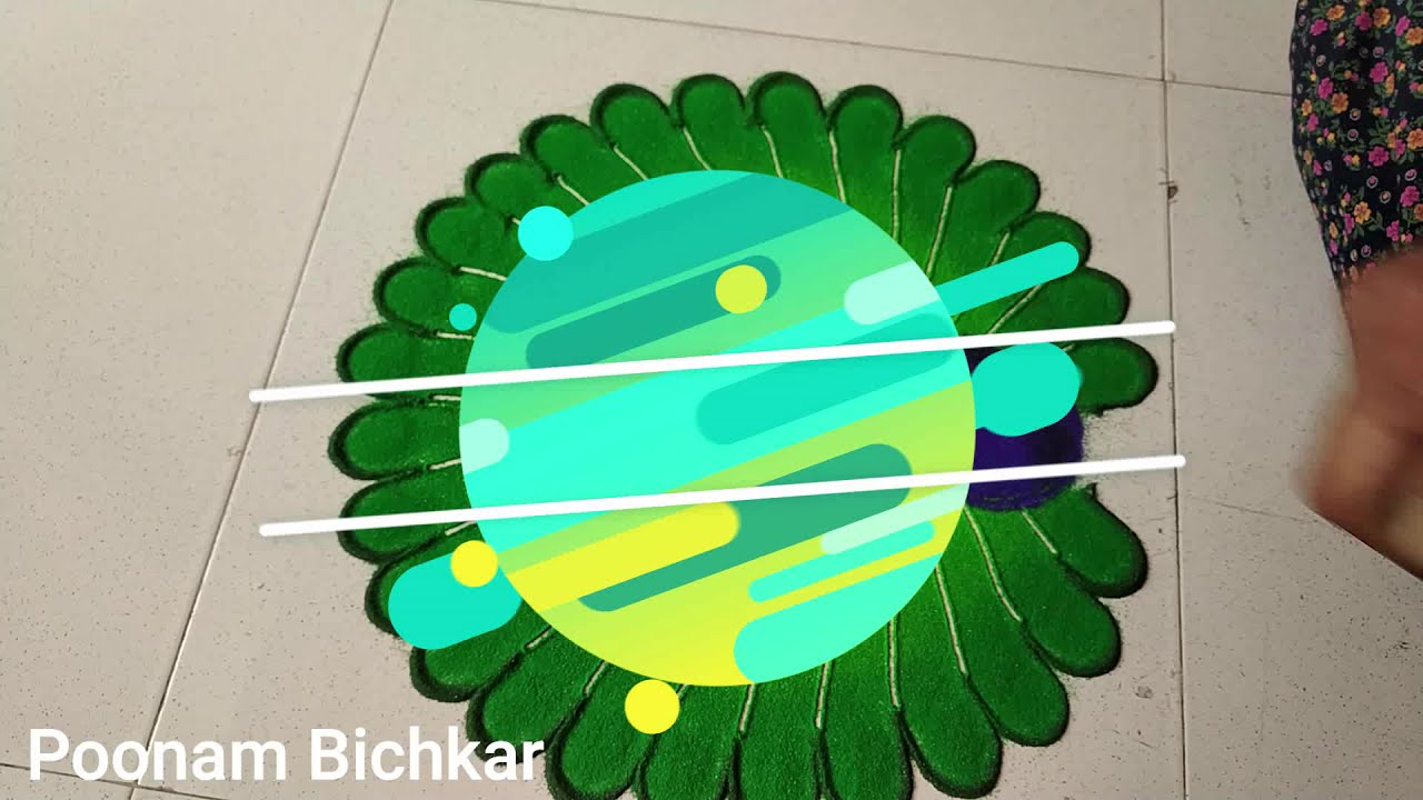 beautiful peacock rangoli design by poonam bichkar