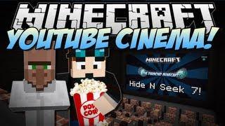 Minecraft   YOUTUBE CINEMA! (Web Displays Mod!)   Mod Showcase [1.6.4]