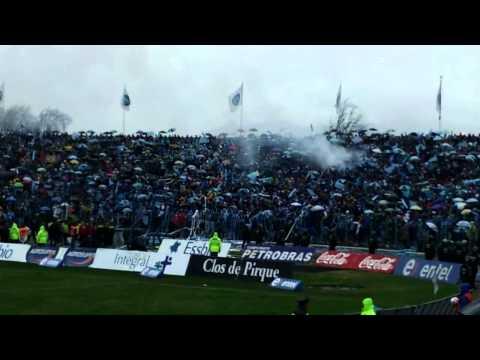 """""""O'Higgins U de Chile Final Apertura 2012 Salida"""" Barra: Trinchera Celeste • Club: O'Higgins"""