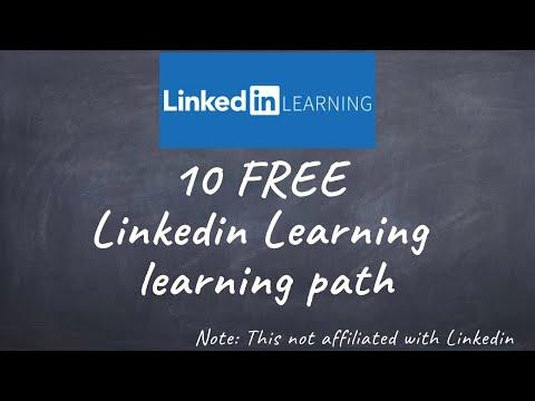 10 FREE Linkedin Learning learning path - YouTube