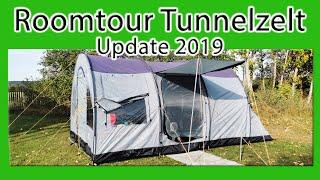 Camping Ausrüstung | Tunnelzelt Roomtour | Update 2019 | Zelten mit Kind | Unsere Erfahrung