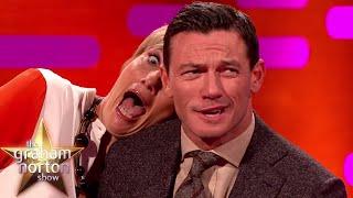 Luke Evans And Emma Thompsons Red Carpet Poses - The Graham Norton Show