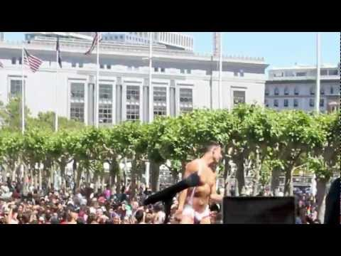 DJ Carmin Wong Live performance at San Francisco Pride Festival 2012, Main Stage, Civic Center