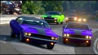Gran Turismo Sport GoPro Challenger VS Mustang! Battle Of The V8