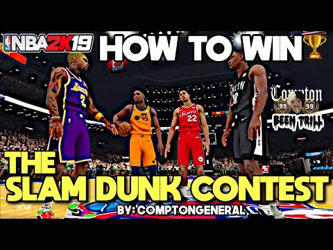 HOW TO WIN NBA 2K19 DUNK CONTEST 🔥 EASY🔥 NBA 2K19 TUTORIAL