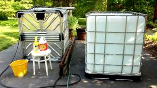 IBC Totes Rain Water Collection System -- Part 1