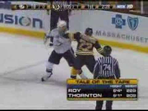 Shawn Thornton vs. Andre Roy