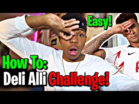 HOW TO DO THE DELE ALLI CHALLENGE *EASY* (HAND CELEBRATION) *TUTORIAL*