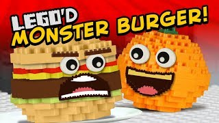Annoying Orange - MONSTER BURGER LEGO'D