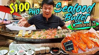 "$100 PHO & ""PISSING SHRIMP"" Seafood Buffet In Phnom Penh Cambodia"