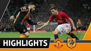 Manchester United 2 The Tigers 0 EFL Cup Semi Final 1st Leg  Highlights  100117