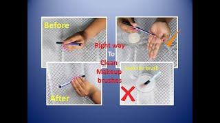 How to clean makeup brushes in the right way || Glow Gossip