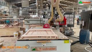 MÁY CNC TRUNG TÂM Woodmaster option Trục lưỡi cưa cắt mọi góc độ cực hiệu quả