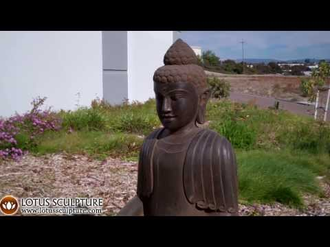 SOLD Stone Earth Touching Big Buddha 34