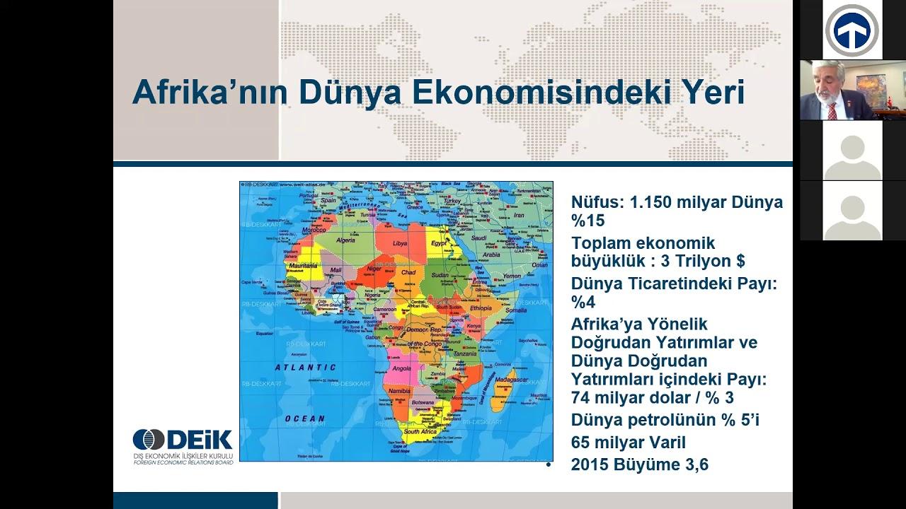 AFRİKA PAZARINA GİRİŞ/AFRİKA'YA İHRACAT PONTANSİYELİNİ ARTTIRMA
