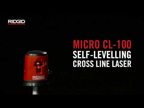 RIDGID micro CL-100 Self-Leveling Cross-Line Laser