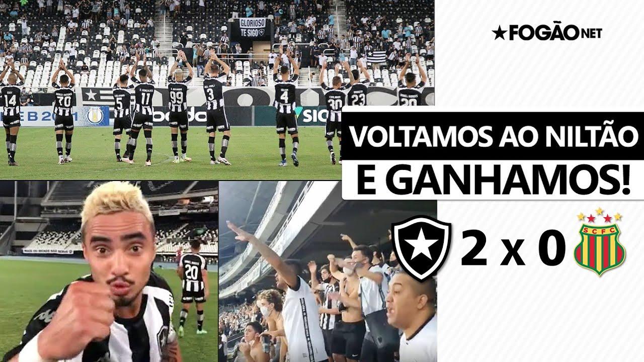 Voltamos e ganhamos! Torcida do Botafogo faz bonita festa no reencontro com o time no Nilton Santos: 'Ei, você aí, o Bota vai subir!' 🏟️🔥