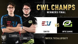 eUnited vs Optic Gaming | CWL Champs 2019 | Day 5