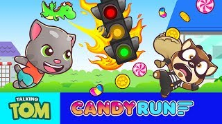 🍭 What the fudge?! 🍭 Talking Tom Candy Run  🍭 NEW GAME Teaser