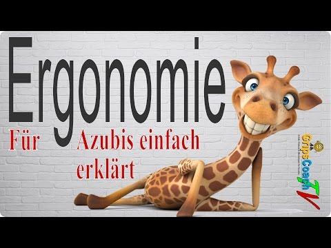 Ergonomie einfach erklärt - Prüfungswissen für Azubis ★ GripsCoachTV