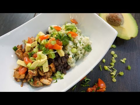 Chicken Burrito Bowl | SAM THE COOKING GUY