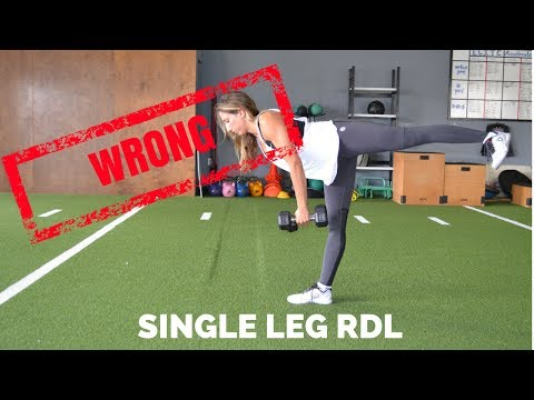 Single-Leg Romanian Deadlift with Dumbbells