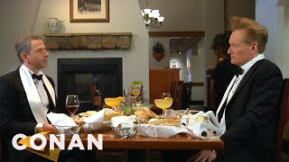 Conan Takes Jordan Schlansky To His Favorite Italian Restaurant