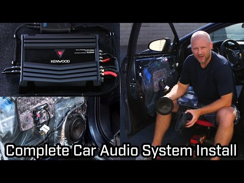 Full Car Audio System Installation – Speakers, Subwoofer and Amplifier