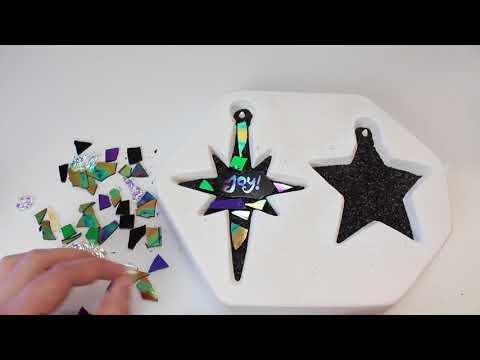 Fusable Glass Star Ornaments