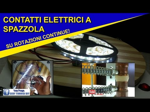 SLIP RING - Contatti elettrici a SPAZZOLA per rotazioni continue su base rotante
