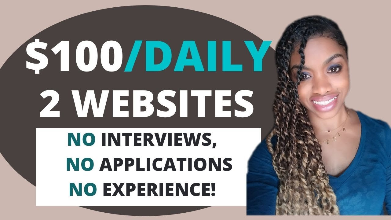Quickly Make $100 A Day Online In Your Extra Time! (No Studies) Work From House Jobs thumbnail