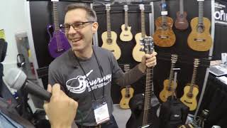 NAMM 2019   Journey Instr. - Carbon Fiber Travel Guitar   KUCR