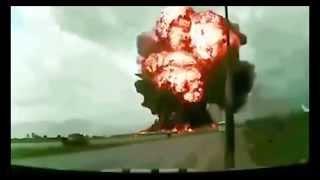 Водитель заснял крушение самолета на видеорегистратор
