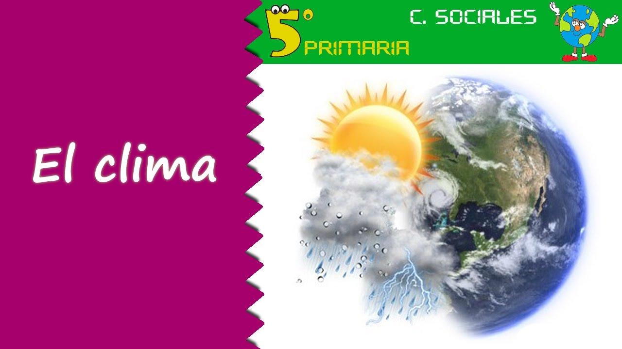 El clima. Sociales, 5º Primaria. Tema 3