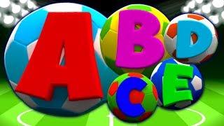 ABC cancion | aprender ingleses alfabetos | Soccer ABC Song In English