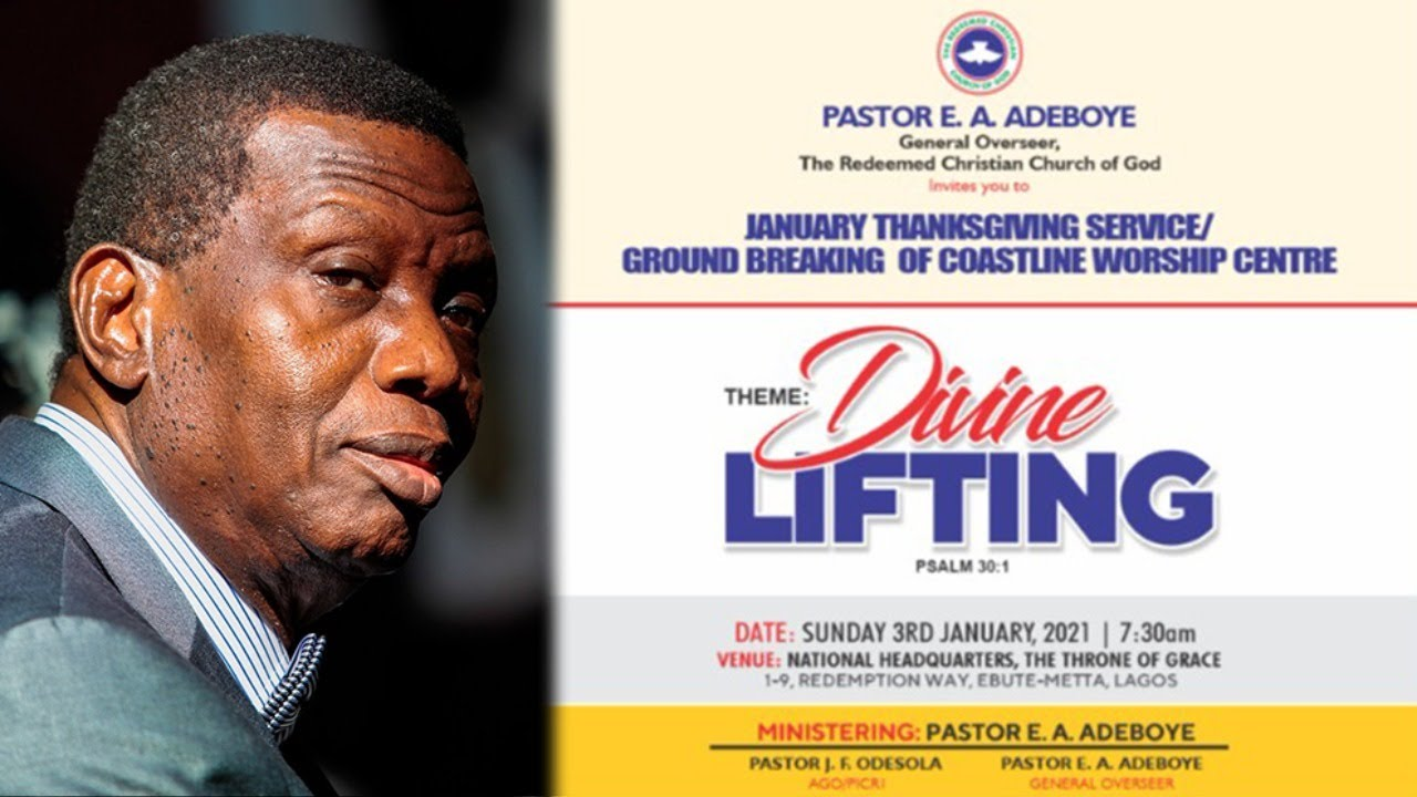 RCCG Thanksgiving Service Sunday 3rd January 2021 by Pastor E. A. Adeboye