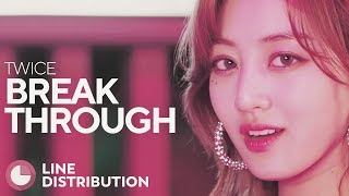 TWICE   Breakthrough | Line Distribution